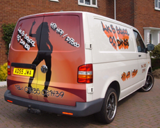 LK's van that transports all our equipment